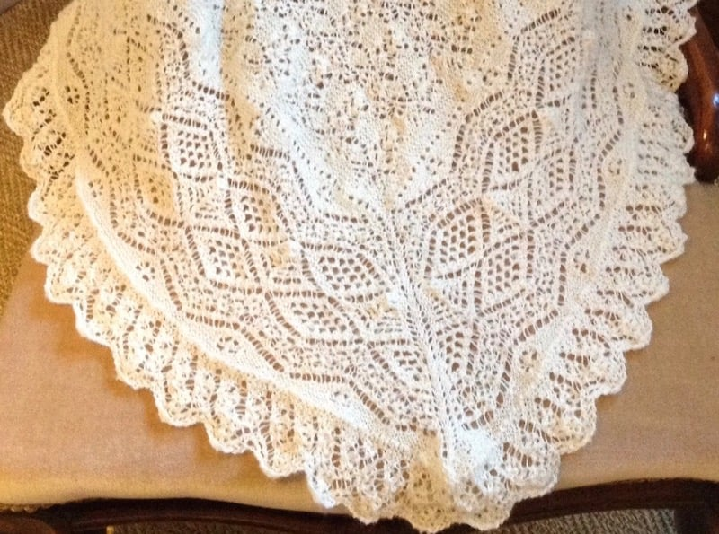 Shawl before