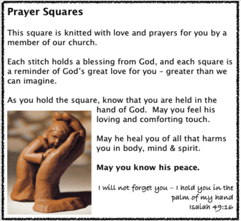 Prayer Shapes - Square Message